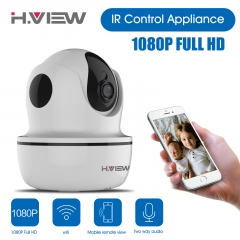 H.View 1080P IP Camera Wifi Wireless Security Camera IR Control Function Infrared Control white UK PLUG