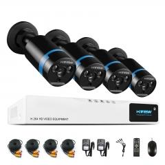 H.View 1080P Security Camera System 4ch CCTV DVR DIY Kit 2MP Surveillance Camera System
