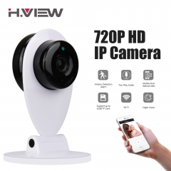 720P Wireless IP Camera WIFI Cam Network Infrared Night Vision Motion Detection White Home Security white uk plug