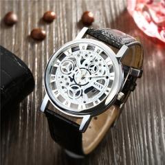 Men Full Stainless Steel Wrist Watch Golden Men Metal Watches Cestbella Black one size