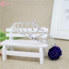 Cestbella Decorative Crystal Stone Bridal  Cestbella Wedding Tiara Crown white 01