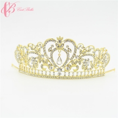 Cestbella Luxury Silver Plated Royal Regal Sparkly Rhinestones Crystal  Tiaras Pearl Crowns white 01