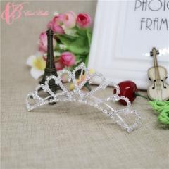 Princess Hair Accessory Classical Crown Bridal Tiara Beauty Women  Cestbella Crown white 01