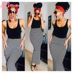 2017 Cestbella Women Latest Mermaid Skirt Style Bodycon Maxi Skirt Dress striped us 6