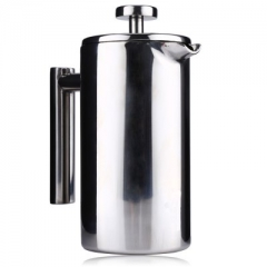 View Original Picture Stainless Steel Cafetiere French Press with Filter Double Wall silver 1000ML