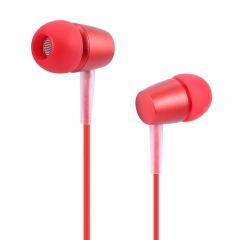HOCO M10 3.5MM HiFi In-ear Wooden Earphones Music Headphones red