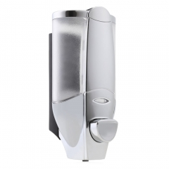 300ML Wall Mount Lotion Pump Bathroom Washroom Shower Shampoo Box Soap Dispenser silver 300ML