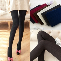 Women Winter Pantyhose Tights Thick Knit Fashion Footed Warm Socks Stockings e one size
