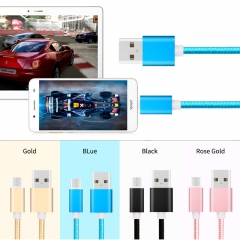 Smartphone Fast  Charging Cable USB Sync Transfer Data Cable Line for Android Infinix HUAWEI Samsung Gold