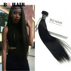 BQ HAIR Top 7A Brazilian Straight Human Hair 100g/pc nature black 10 inch