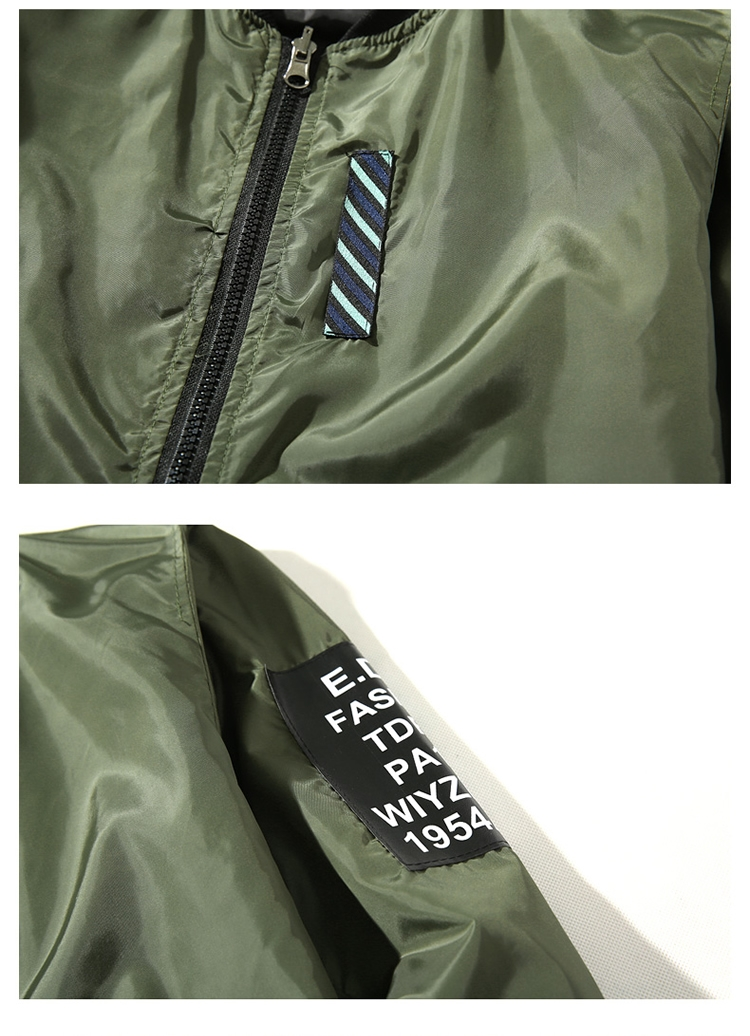 bomber jacket men pilot with patches green both side wear thin