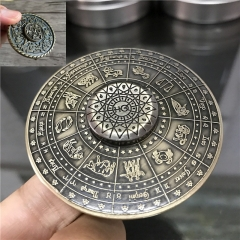 2017 Egyptian Pharaoh Egypt 12 Constellation Ancient Fidget Spinner Metal EDC Toy Hand Spiner 1 one size