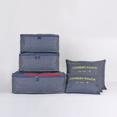 outdoor travel Clothing sort out Incorporated bag Six sets  many Features carry  Convenience Dark blue star large