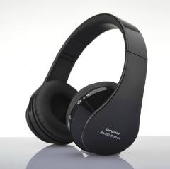 Wearing style  Bluetooth headset Foldable wireless stereo Mini movement headset new black