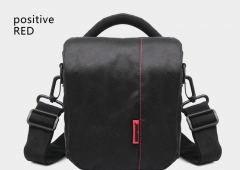 outdoor Shoulder Bags SLR camera bag Oblique cross Multifunction Multifunction packet Black and red one size