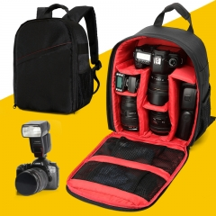 outdoor photography SLR Digital camera bag backpack travel Photography bag black and red one size