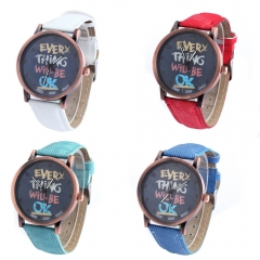 Camouflage Military Watch Leisure Fashion Trend Simple Ms Watch white