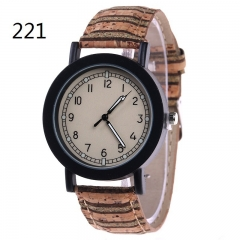 Ms Flowers Color Printing Belt Watch Personality fashion Watch Watch quartz Watch 221