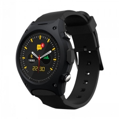 Intelligent Watch Step Heart rate test altitude Air pressure compatible Ios Andrews wristband black one size