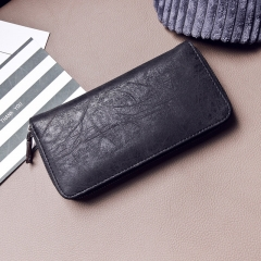 The New Ms Long Section Zipper Wallet Fashion Small Fresh Wallet Multifunction Hand Bag black one size