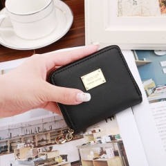 Ms Wallet Short Section Simple New Product Sequins Wallet Female Student Fashion Coin Purse black one size