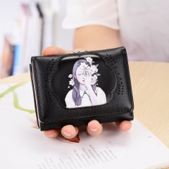 The New Ms wallet Short section fashion temperament beauty lovely trend Wallet package black one size