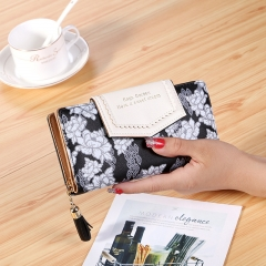 The New Wallet Ms Long Section Hand Bag folk-custom Fashion Tassel Wallet Card Holder black one size