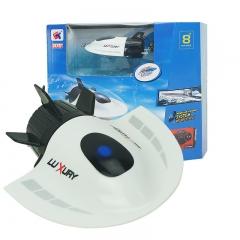 Mini submarine Toy boat model remote control submarine Plastic boat white 11*8*4