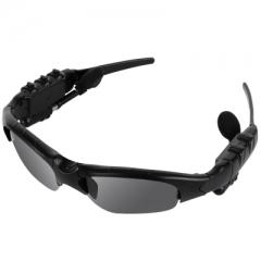 Smart Bluetooth Polarized Sunglasses Glasses Earphones Headphones MP3 Music Player black one size