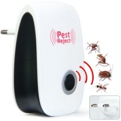 Multi-purpose Electronic Pest Repeller Ultrasonic Rejector for Mouse Bug Mosquito Insect white one size