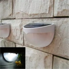 Solar Powered Sensor Light Accent Lighting Waterproof 6 LED for  Wall,Fence,Garden,Path (2 Pcs) white 6 watts