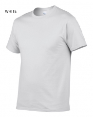 Mens'casual T-shirt short sleeve USA cotton simple style American Fashion white XS