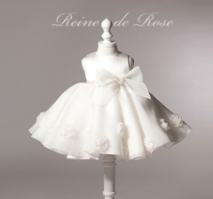 Lovely Baby Pageant Princess Dress for Kids Little Girl Party Wedding Birthday Dress Tutu Clothes white 120