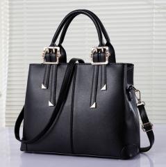 Women's Roma Handbag large size Lady elegant fashion big OL style shoulder bag black 33cm*13.5cm*26cm