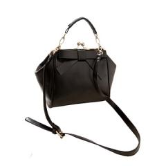 Toofn Handbag Stylish Bowknot Shoulder Sling Bag for Girls Black