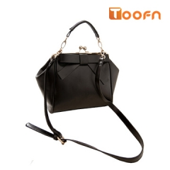 Toofn Handbag Bowknot Handbag Shoulder Crossbody Bag Black F