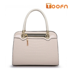 Toofn Handbag Ladies Diana Package Crocodile Fashion Handbag Shoulder Bag White F