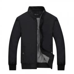Port&Lotus Men Jacket  Fashion Outdoor Men Coats Solid Men Clothing 049 black M