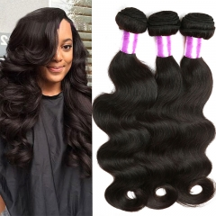 3 Piece Brazilian virgin hair body wave hair weaves,100% Brazilian human hair  Grade 7A 1b 10 10 10inch