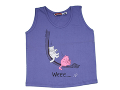 Childrens Vest Ages 5-9 Purple