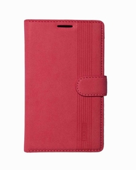 X551 Original Leather Flip Cover - Pink Stripped