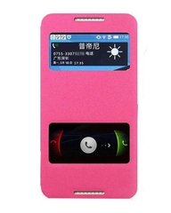 X600 Double window Flip cover - Pink