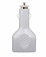 White USB car Charger