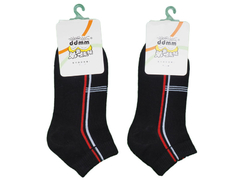 Black Striped Ankle Socks