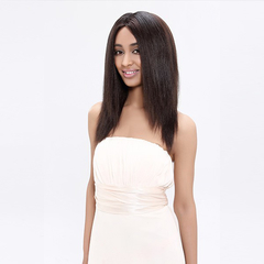 #1b,yaki 16 inches ,blended human hair, yaki texture, easy to style. Tangle free.