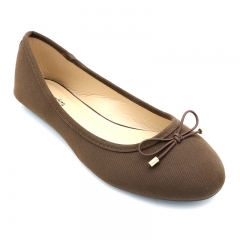 BATA LADIES CASUAL BALLERINA SHOES Dark Brown (5590407) 6