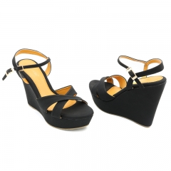 Ladies Casual-Wedge Sandals-7616139 black 5
