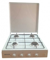 ARMCO  -F8440GX(WW) 4 Gas Burner, 60X60 Table Top Cooker, White