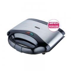 ARMCO AST-G1500 - 2 Slice Sandwich Maker - 750W- Black & Silver
