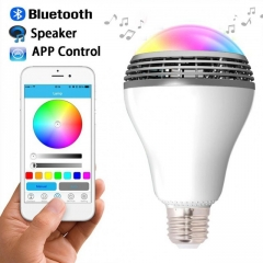 Smart LED Bulb Wireless Bluetooth Speaker 110V - 240V E27 3W Lamp Audio for Android iPhone iPad white 1
